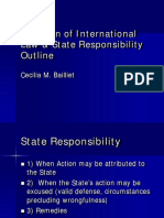 Violation of International Law & State Responsibility Outline