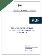 3 DG Auto Load Sharing Scheme