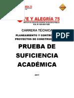 Modelo de Estructura Del Examen de Suficiencia - PEGC