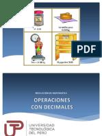 Sesión 1 - Operaciones Con Decimales