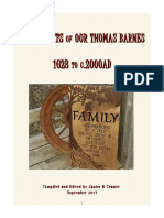 Descendants of Our Thomas Barnes 1623-c.2000AD