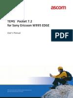 TEMS Pocket 7.2 for Sony Ericsson W995 EDGE -- User_s Manual