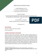 Reform of Civil Litigation in Ghana