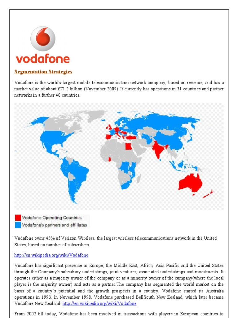 vodafone's strategies in the indian market Here are the top 10 internet marketing strategies to help you attract  people who believe in your company can share your information and grow your market on a.