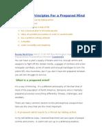 8 Prepper Principles for a Prepared Mind