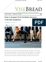 Www.wisebread.com How to Answer 23 of the Most Common In