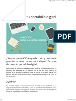 Cómo Hacer Tu Portafolio Digital - Profesionistas