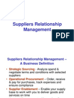Suppliers Relationship Management