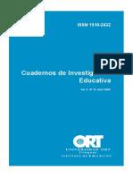 LIBRO.cuadernos de Investigación Educativa 12