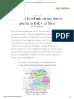 Francia e Israel Inician Una Nueva Guerra en Irak y en Siria, Por Thierry Meyssan