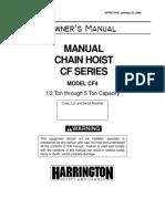 Manual Hoists CF4 NTH Parts (1)