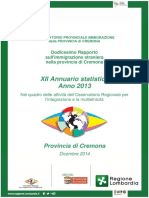 Cremona2013 Rapporto Sull Immigrazione - Copia