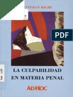 Righi, Esteban - La Culpabilidad en Materia Penal - 2003