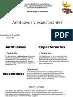 Antitusivos y Expectorantes