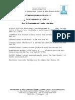Sugestões Bibliográficas - Estudos Literários - Doutorado