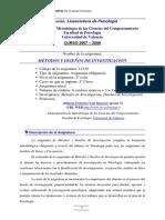 Programa Licenciatura en Psicología. Universidad de Valencia