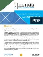 Consejo de cómo hacer una Entrevista- Periódico EL PAÍS - España