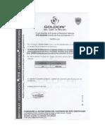 Certificado de Gps x8w 952