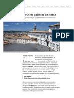 Guía para descubrir los palacios de Roma
