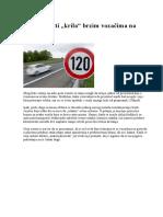 Tabela Brzina Na Autoputu