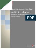 contaminantes en los ambientes laborales