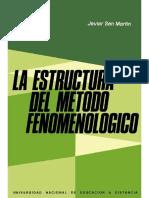 La estructura del método fenomenológico