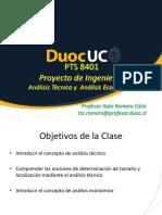 Proyectos de Ingeniería - Clase 6 - Análisis Técnico + Estudio Económico