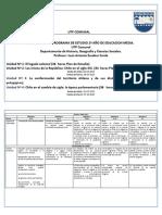 Planificación estratégica Historia  2° medio 2017
