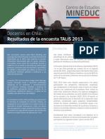 Docente en Chile - Resultado de La Encuesta TALIS 2013