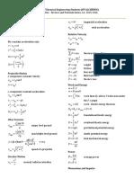 Physics 71 Equations