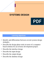 Chapter 5- Systems Design
