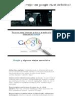 Trucos Buscar Mejor en Google Nivel Definitivo