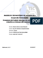 Resumen del Quinto informe de gobierno en relación a el desarrollo sustentable