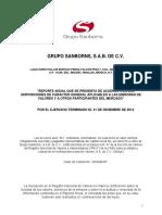 Reporte Anual 2014 Grupo Sanborns