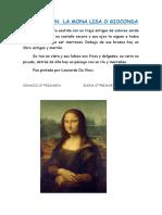 Descripcion de La Mona Lisa