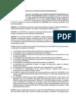 Contrato de Locación de Servicios Profesionales de Publicidad, Comunicación Integral y Marketing