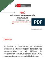MODULO DE PROGRAMACIÓN MULTIANUAL - MEF