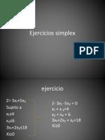 método simplex  investigación de operaciones