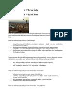 Rencana Struktur Wilayah Kota