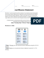 personal mission statment assignment