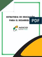 Libro Estrategia de Educacion Para El Desarrollo