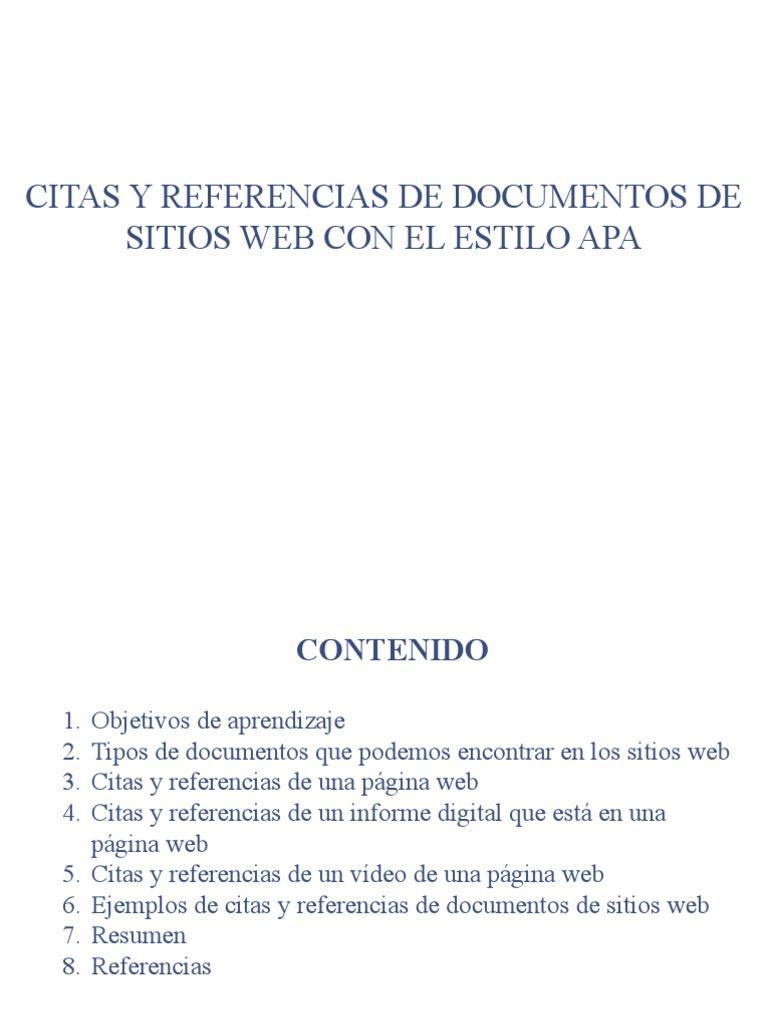 APA_Tema_4_Citas y referencias de documentos de sitios web con el ...