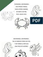 Adivinanzas Animalitos Del Mar