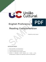 English Proficiency Exam Sample