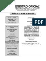 Registro Oficial N° 999 Ley Reformatoria a la Ley de Legalización de la Tenencia de Tierras