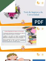 Instrucciones Pruebas de Ingreso a La UNAB
