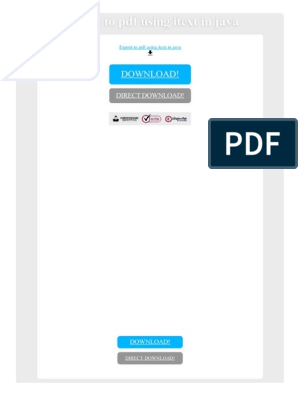 Export to PDF Using Itext in Java | Portable Document Format