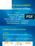 Strategic Management - M & a