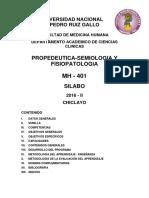 Medicina i - 2016 II - Silabo