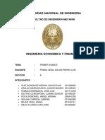 Ing. Econ 5to Avance universidad nacional de ingenieria facultad de ingenieria mecanica UNI FIM ms213 proyecto primera semana ing economica y finanzas